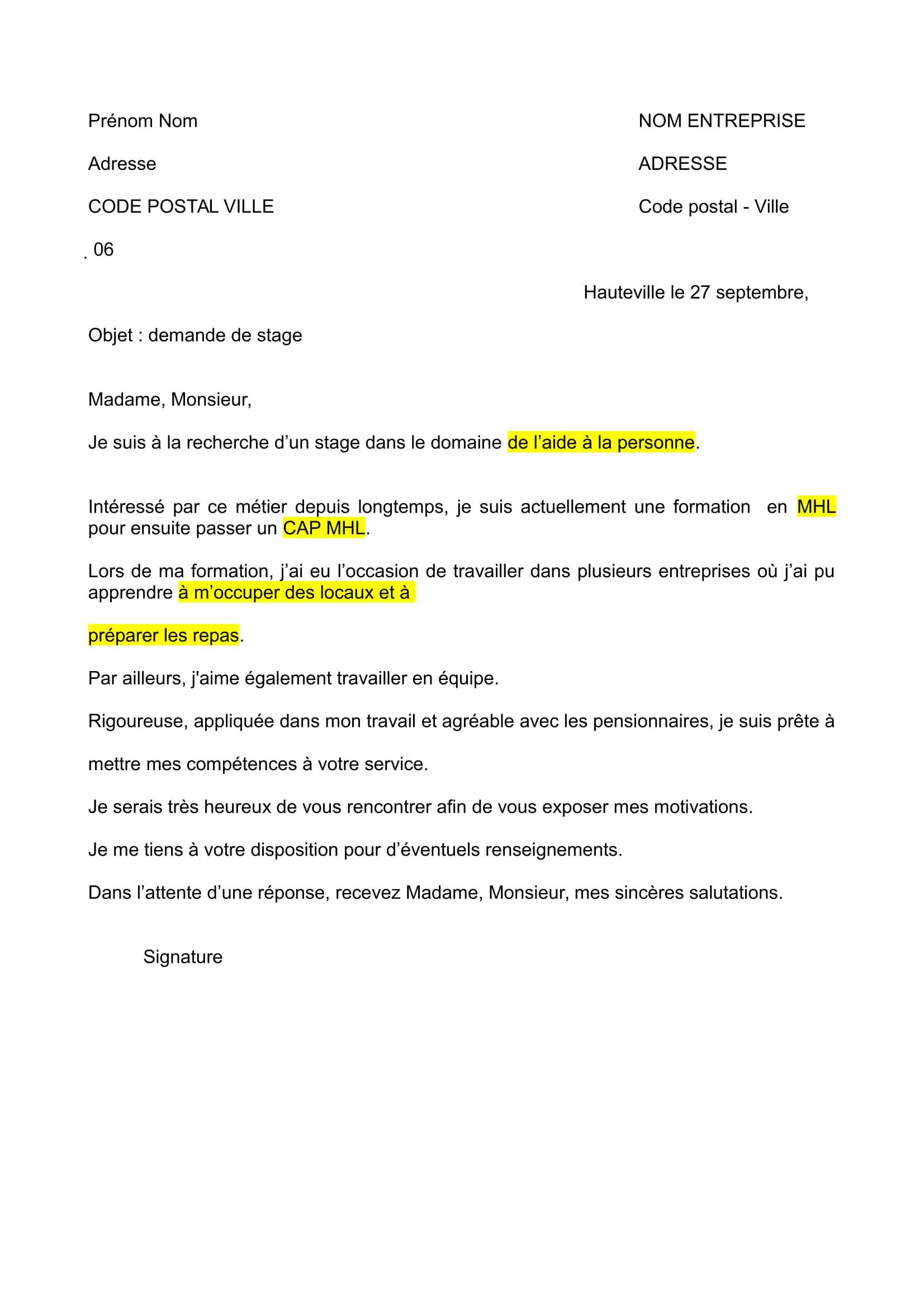 production d u2019 u00e9crit  la lettre de motivation